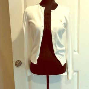 NWT Ralph Lauren white sweater small